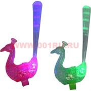 Кольца светящиеся «павлин» разноцветные со световолокном цена за 30 шт