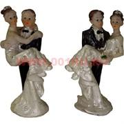 Жених с невестой (KL-1089) 8 см полистоун (600шт/кор)