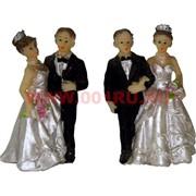 Жених с невестой (KL-1090) 7,6 см полистоун (600шт/кор)