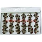 Набор колец размер 17-19 цвет красный цена за упаковку 12 шт