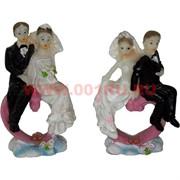 Жених с невестой на сердце (KL-1092) 6,5 см полистоун (1200шт/кор)