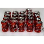 Зажигалка газовая турбо красная брелок 25 шт/бл