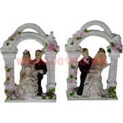 Жених с невестой под аркой (KL-1087) 8 см полистоун (480шт/кор)