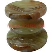 Подставка под шарик, яйцо из оникса 2,6 см, 12 шт\уп