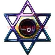 Спиннер металлический «под бензин» 6-конечная звезда