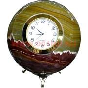 """Часы из оникса """"Шар"""" 11 см (4"""") на подставке"""