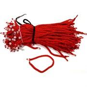 Красная нить толстая + бусина розовый кварц (цена за 100 шт)