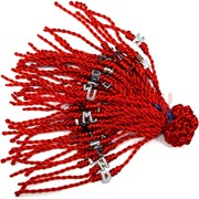 Красная нить толстая с буквой (1356) цена за 100 шт