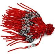 Красная нить толстая с Love (1532) цена за 100 шт