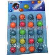 Мячик прыгун «смайлик» на резинке 30 мм (R-892) цена за 20 шт