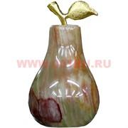 Груша из оникса 9 см (2х3), цвета камня (прожилки и т.д.) в ассортименте