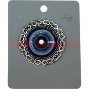 Булавка-сглаз круглая с узором (HR-1067) цена за 12 шт