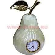 """Часы из оникса """"Груша"""" 16см (4х8)"""