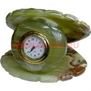 """Часы из оникса """"Жемчужина в раковине"""" 9см (4)"""
