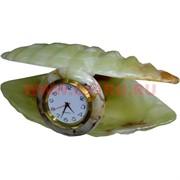 """Часы из оникса """"Жемчужина в раковине"""" 17см (6)"""