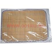 Циновка-салфетка бамбуковая 30х42 см (цвета миксом)