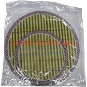 Циновка подставка под горячее из бамбука 2 шт