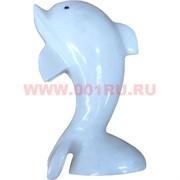 Дельфин из белого оникса 15,5 см (5 дюймов)