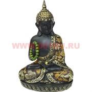 Будда 25 см с четками (полистоун, ткань)
