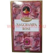 Благовония Ppure Nagchampa Rose 15 гр, цена за 12 штук (Роза)
