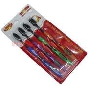 Зубные щетки бамбуковые, 4 шт/уп (200 шт/кор)