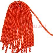 "Нитка бусин коралл 10 мм ""темно-оранжевый"" цена за 1 нитку"
