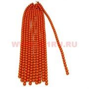 "Нитка бусин коралл 10 мм ""темно-оранжевый 2"", цена за 1 нитку"