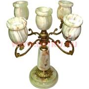 Подсвечник из оникса на 5 свечей 23 см