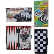 Набор игр 3 в 1 «нарды, шашки, шахматы» маленькие