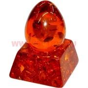 Яйцо под янтарь с подставкой 7 см темное (RK-154)