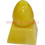 Яйцо под янтарь с подставкой 7 см светлое (RK-154)