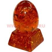 Яйцо под янтарь с подставкой 8 см темное (RK-155)