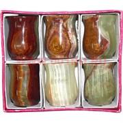 Набор из 6 стаканов 5 см (1,5х2,5) из оникса в картонной коробочке