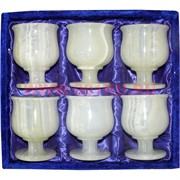 Набор из 6 бокалов 12 см (3х4) в бархатной коробочке из оникса