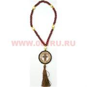 Деревянный крест в круге с четками цена за 50 штук