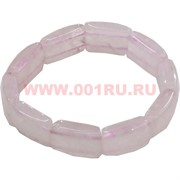 Браслет из розового кварца с крупными сегментами