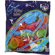 Шарики надувные оптом (A70/80) 70801 19см 7'' пастель цвета миксом, цена за 100 штук
