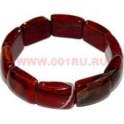 Браслет из яшмы красной с крупными сегментами