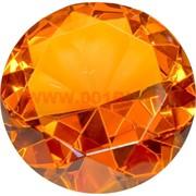 Кристалл «бриллиант» 9,5 см янтарный