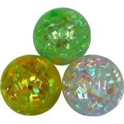 Мячик светящийся перламутровый 65 мм, цена за 12 штук