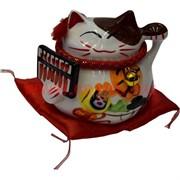 Кот Манеки Некто фарфоровый (360) копилка «со счетами»
