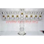 Подсвечник стеклянный на 9 свечей 23 см высота