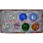 Бриллианты 1 качество 40 мм стеклянные 7 шт/уп