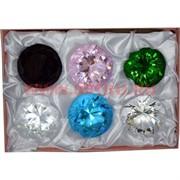 Бриллианты 1 качество 60 мм стеклянные 6 шт/уп