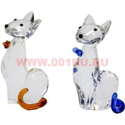 Котики стеклянные 8,5 см высота, цвета в ассортименте