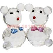 Мышки стеклянные парочка 4,5 см