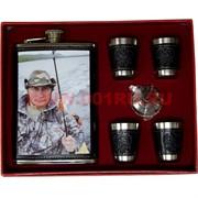 Набор «Президент» (001-4) фляга 9 унций и 4 стаканчика