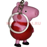 "Брелок-фонарик ""свинка Пеппа"" со звуком 12 шт/уп"