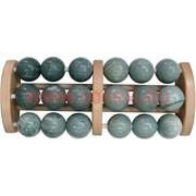 Массажер нефритовый на деревянной раме (18 шариков)