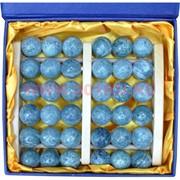 Массажер нефритовый на деревянной раме (36 шариков)